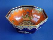 Superb Wiltshaw and Robinson Large Carlton Ware Lustre 'Persian Medallion' Octagonal Bowl c1920